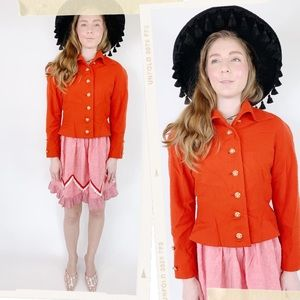 Vtg Adele Simpson RARE Wool Fitted Blazer Jacket